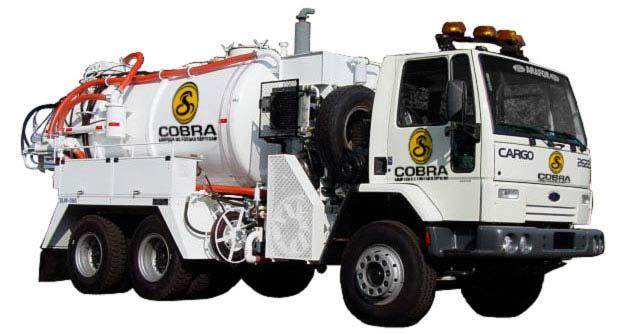 Caminhão para limpeza de fossas sépticas